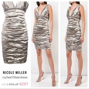 Nicole Miller Collection Silver Dress